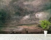 Weymouth Bay with Approaching Storm (oil on canvas) wall mural in-room view