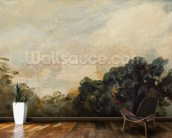 Cloud Study with Trees, 1821 (oil on paper laid down on board) wallpaper mural kitchen preview