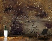 Rushes by a Pool, c.1821 (oil on paper on board) mural wallpaper kitchen preview