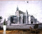 East Bergholt Church: the exterior from the South-west (drawing) wall mural kitchen preview