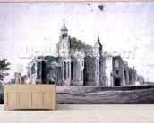 East Bergholt Church: the exterior from the South-west (drawing) wall mural living room preview