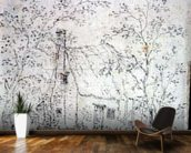 Cottage at East Bergholt (drawing) wallpaper mural kitchen preview
