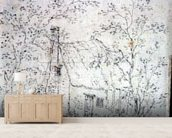 Cottage at East Bergholt (drawing) wallpaper mural living room preview