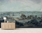 The Valley of the Stour, with Stratford St.Mary in the distance mural wallpaper living room preview