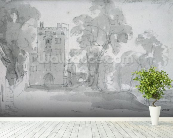 Haddon Hall wallpaper mural room setting