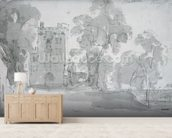 Haddon Hall wallpaper mural living room preview