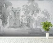 Haddon Hall wallpaper mural in-room view