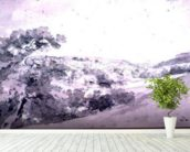 Chatsworth Park 99;landscape; monochrome; hill; hilly; wall mural in-room view
