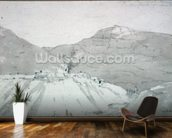 A Lead Mine at the Foot of Mam Tor (watercolour) mural wallpaper kitchen preview