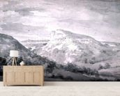 Matlock High Tor (watercolour) wall mural living room preview