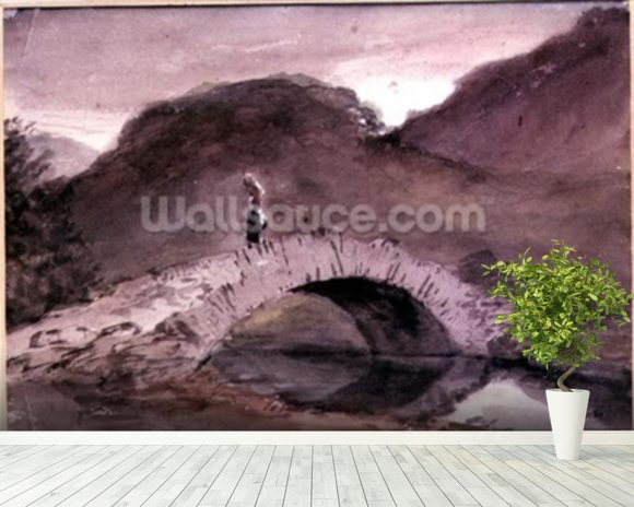 A Bridge at Borrowdale wall mural room setting