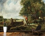 The Lock, 1824 (oil on canvas) wallpaper mural kitchen preview