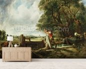 The Lock, 1824 (oil on canvas) wallpaper mural living room preview