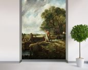 The Lock, 1824 (oil on canvas) wallpaper mural in-room view