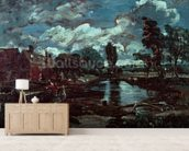 Flatford Mill from a Lock on the Stour, c.1811 (oil on canvas) wallpaper mural living room preview