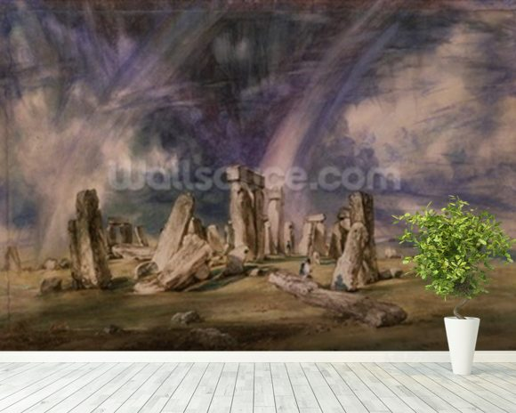 Stonehenge, 1835 (w/c on paper) wall mural room setting