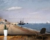 Brighton Beach with colliers, 1824 (oil on paper) wallpaper mural kitchen preview