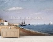 Brighton Beach with colliers, 1824 (oil on paper) wallpaper mural living room preview