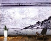 Sheerness; Coast scene near Southend, 1814 (drawing) mural wallpaper kitchen preview