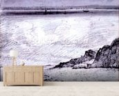Sheerness; Coast scene near Southend, 1814 (drawing) mural wallpaper living room preview