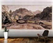 Sketch of Borrowdale, 1806, Afternoon wall mural kitchen preview