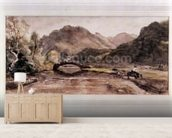 Sketch of Borrowdale, 1806, Afternoon wall mural living room preview