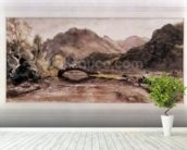 Sketch of Borrowdale, 1806, Afternoon wall mural in-room view