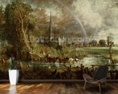 Salisbury Cathedral From the Meadows, 1831 (oil on canvas) (see 188984-188985 for details) wallpaper mural kitchen preview