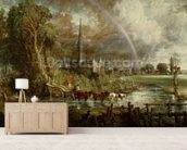 Salisbury Cathedral From the Meadows, 1831 (oil on canvas) (see 188984-188985 for details) wallpaper mural living room preview