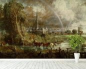 Salisbury Cathedral From the Meadows, 1831 (oil on canvas) (see 188984-188985 for details) wallpaper mural in-room view