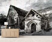 Porch and Transept of a Church, c.1850-11 (w/c on paper) wall mural living room preview