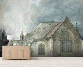 East Bergholt Church, c.1805-11 (watercolour) wallpaper mural living room preview