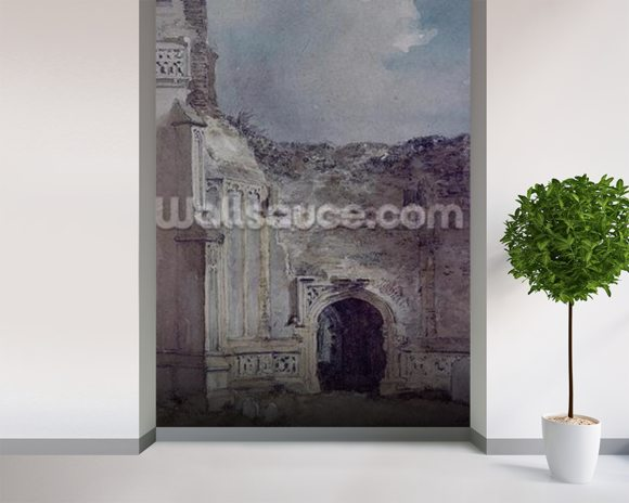 East Bergholt Church: North Archway of the Ruined Tower (w/c on paper) wall mural room setting