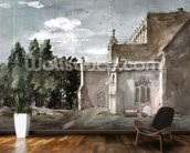 East Bergholt Church: view from the East (watercolour) wallpaper mural kitchen preview