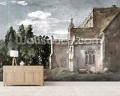 East Bergholt Church: view from the East (watercolour) wallpaper mural living room preview