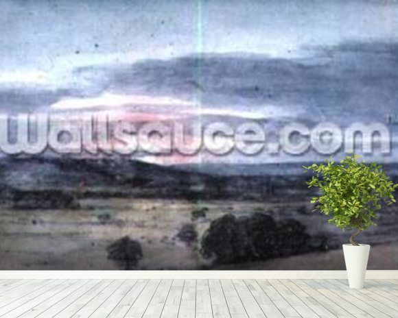 Dedham Vale from East Bergholt: Sunset wallpaper mural room setting
