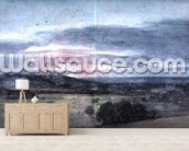 Dedham Vale from East Bergholt: Sunset wallpaper mural living room preview