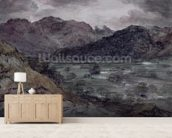 View in Borrowdale (w/c on paper) wall mural living room preview