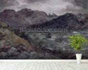 View in Borrowdale (w/c on paper) wall mural in-room view
