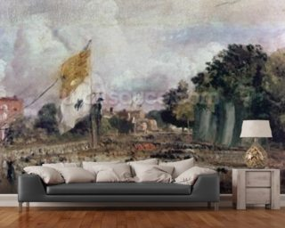 Celebration of the General Peace of 1814 in East Bergholt, 1814 (oil on canvas) mural wallpaper