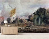 Celebration of the General Peace of 1814 in East Bergholt, 1814 (oil on canvas) mural wallpaper living room preview