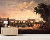 Figures with a Donkey, Corfu in the Distance wall mural living room preview