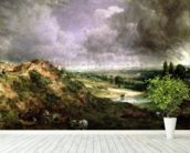 Hampstead Heath mural wallpaper in-room view