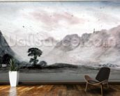 View in Borrowdale (watercolour) mural wallpaper kitchen preview