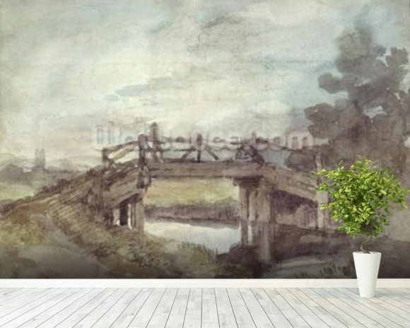A Bridge over the Stour wallpaper mural room setting