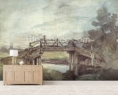 A Bridge over the Stour wallpaper mural living room preview