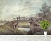 A Bridge over the Stour wallpaper mural in-room view