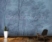 Study of ash and other trees (pencil on paper, heightened with white chalk) wall mural kitchen preview