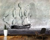 A ship under Sail mural wallpaper kitchen preview