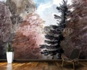 Study of Trees in a Park (watercolour) wall mural kitchen preview